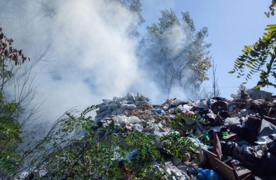 На мусоросвалке рядом со станцией Брэтушень невыносимо воняют отходы