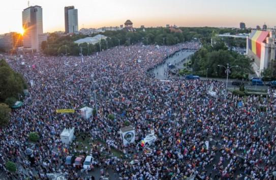 250 000 румын в Бухаресте протестовали против правительства